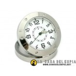 Metal Clock desck Spy for the home or office with motion detect