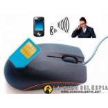 Mouse GSM, microphone with alarm,  auto rechargeable